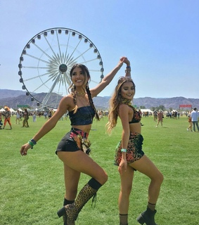 best friends, coachella vibes and fashion