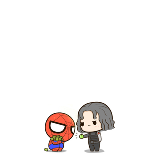spider-man, bucky and Marvel