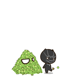 chibi, black panther and Marvel
