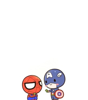 chibi, spider-man and Avengers