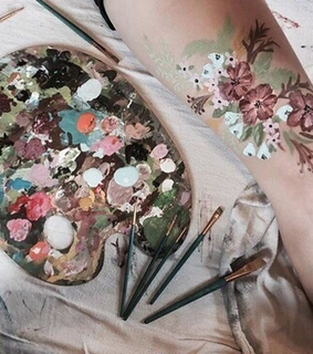 art, beauty and flowers