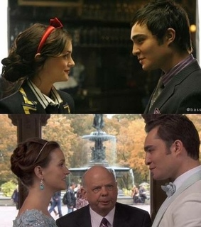 blair waldorf, ed westwick and chair