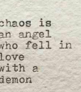 chaos, demon and feel in love