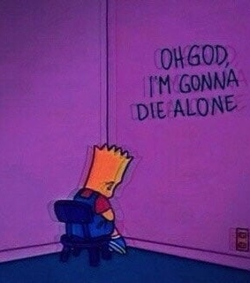 sad, the simpsons and deep