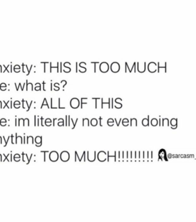 anxiety and funny