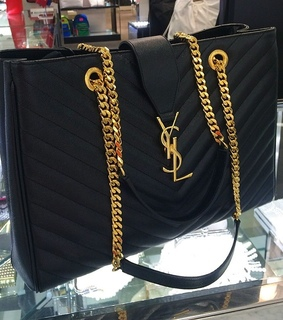 bag, YSL and black