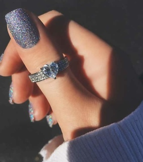 heart shaped and rings