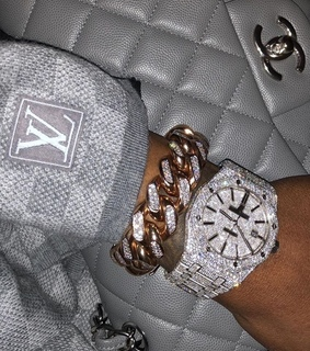 LV, bag and bling