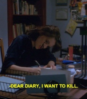 diary, stressed out and writing
