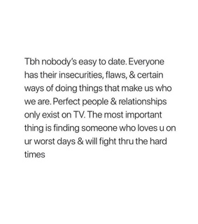 perfect, to date and nobody