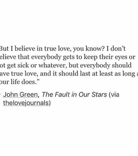 true love, author and the fault in our stars