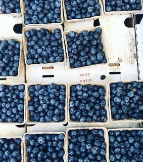 sweet, blueberries and delicious