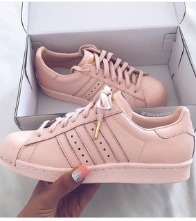 sneakers, pink and rose gold