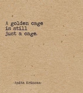 a cage, a golden and aesthetic
