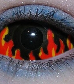flames, archive and eye makeup