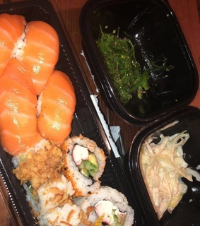 food and sushi