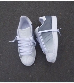 white, adidas and fashionable
