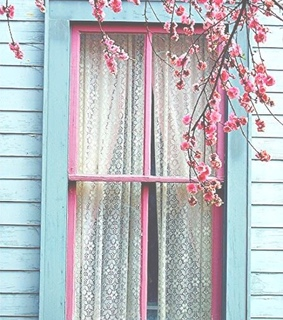 pink, shabby chic and blue