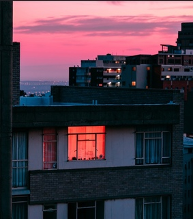neon and sunset