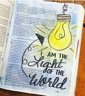 bible, bible journaling and blue