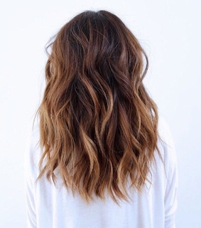 balayage, beauty and brunette