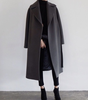 black coat, classy and cold