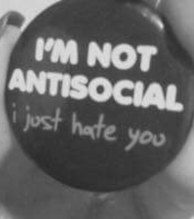 antissocial, hate and people