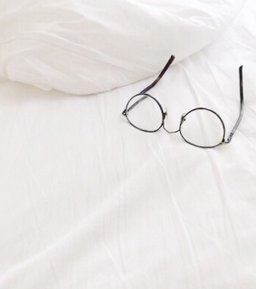 bed, classy and glasses