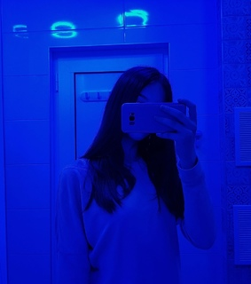 mirror selfie, blue and bathroom