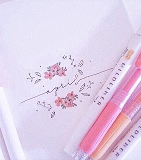 calligraphy, notes and pink