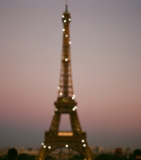 colors, dark and eiffel tower