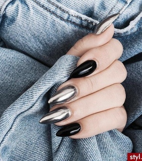 silver, nails and plateado