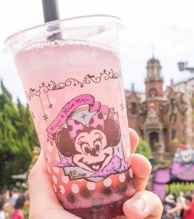 minnie, polka-dot and boba tea