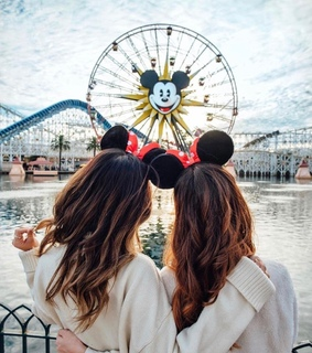 bffs, lovely and mickey mouse