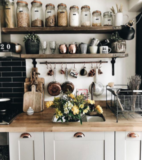 kitchen, rustic and hygge