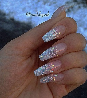 sparkly nails, glitter nails and nails