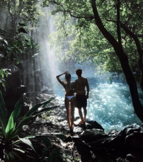 adventure, couple and nature