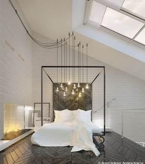 lights, apartment and bed
