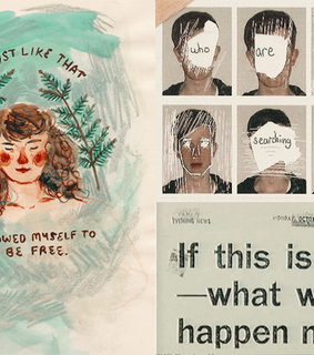 Collage, collage headers and headers