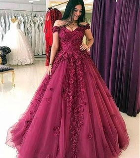 Prom, ball gown and burgundy prom dresses