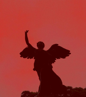 angel, red and shadow