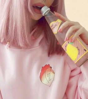 asthetic, bottle and girl