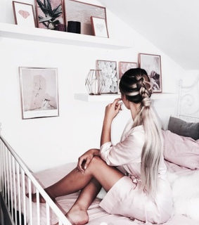 bedroom, cute and girl
