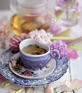 vintage, flowers and tea cup
