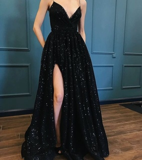 Prom, aesthetic and black