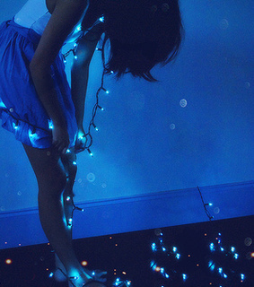 blue, tumblr and luces