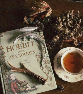 tolkien, reading and vintage