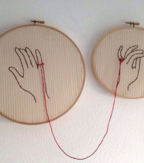 hands, aesthetic and red string