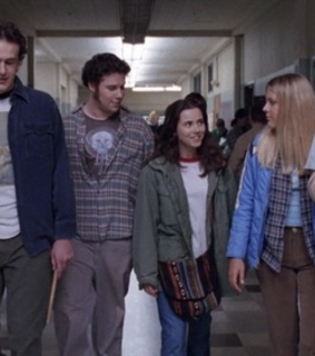 jason segel, busy philipps and 90s