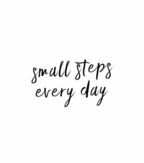small, you can do it and never give up